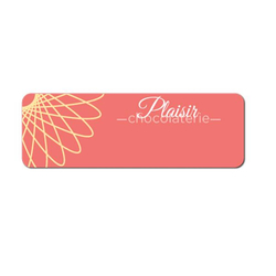 "Magnet Write-On P-Touch Metal Name Badge - 3"" x 1"""