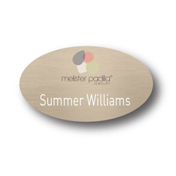 Custom Plastic Stickpin Name Badge (0-3 Square Inch)