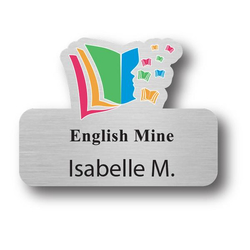 Custom Plastic Stickpin Name Badge (3-6 Square Inch)