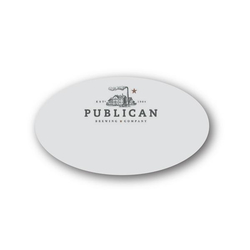 "Magnet Write-On P-Touch Plastic Name Badge - 3 1/8"" x 1 7/8"""