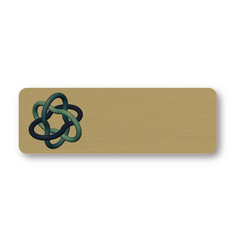 "Magnet Write-On P-Touch Plastic Name Badge - 3"" x 1"""