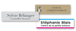 "Plastic Name Plate - 10"" x 1.5"""