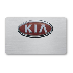 "Magnet Write-On P-Touch Metal Name Badge - 3 3/8"" x 1 7/8"""