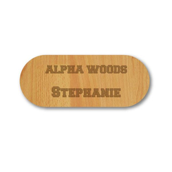Birch Veneer Wood Name Badge